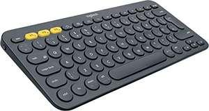 Logitech K380 Wireless Multi-Device Keyboard Bluetooth, QWERTY UK Layout Black / Blue (Used, Like New) - £18.78 (+£4.49) @ Amazon Warehouse