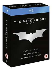 The Dark Knight Trilogy [Batman] [Blu-ray] [2005] [2013] [Region Free] - £9.99 (+£2.99 non prime) @ Amazon