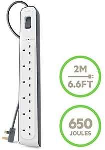 Belkin BSV603af2M 6 Way/6 Plug 2m Surge Protection Extension Lead Strip - £12.99 (+ £4.49 non Prime) Delivered @ Amazon