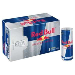 Red Bull 8 x 250ml Can Packs are £6.50 @ Asda