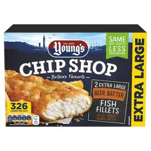 Young's Chip Shop 2 Extra Large fish in Beer Batter £1 instore @ Farmfoods