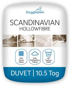 Snuggledown Classic Hollowfibre Double 10.5 Tog All Year Round Duvet, Like New, £5.54 / V Good, £5.25 (+£4.49 Non-Prime) @ Amazon Warehouse