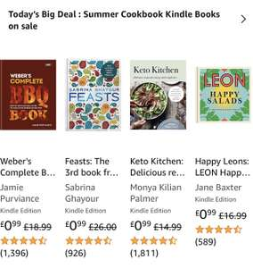 Summer Cookbooks 99p @ Amazon Kindle (Leon, fire & smoke, Keto & More)