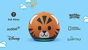 Amazon Echo Dot Kids 4th gen (Tiger / Panda) £39.99 - includes one year of Amazon Kids+ @ Amazon
