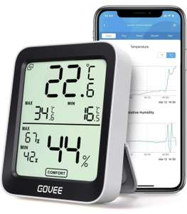 Govee Bluetooth digital thermometer with temperature & humidity sensor for £9.51 with voucher and Prime (+£4.99 non-Prime) @ Govee UK/Amazon