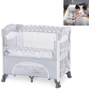 Hauck Sleep n Care Plus Travel Cot / Bedside Crib - Teddy Grey £48.95 delivered with code @ Online4baby