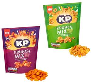 KP Krunch Mix Texas BBQ Peanut & Snack Mix or Sour Cream & Chive Flavour 105G - £1.25 (Clubcard price) @ Tesco