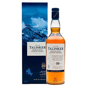 Talisker 10 Year Old Single Malt Scotch Whisky, 70 cl 45.8% ABV £30 @ Amazon
