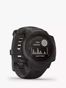 Garmin Instinct Solar, Solar-Powered Fitness Smart Watch, Graphite £189 instore @ John Lewis & partners (Cheadle)