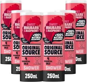 Original Source Rhubarb and Raspberry Shower Gel, 6x250ml - £6 Prime / +£4.49 non Prime @ Amazon