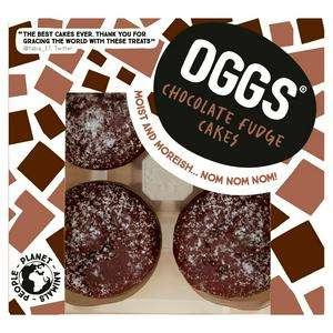 OGGS Vegan Chocolate Fudge Cakes 184g £3.00 @ Sainsburys