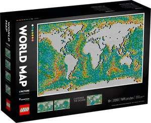 LEGO Art 31203 World Map - £183.99 with code @ John Lewis & Partners (John Lewis Members)