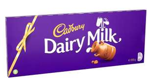 Cadbury Dairy Milk Chocolate Gift Bar 850g £7.08 prime + £4.49 non prime @ Amazon