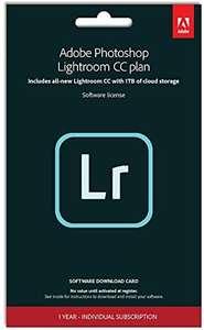 Adobe Lightroom 1TB | 1 Device | 1 Year | PC/Mac | Key Card and Download - £32.42 @ Amazon