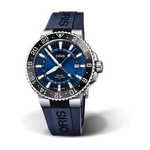 ORIS AQUIS GMT Steel Case & Blue Rubber Strap 44mm Men's Watch - £1,550 @ Fraser Hart
