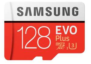 128GB - Samsung Evo Plus Micro SD card (2020) U3 C10 Up to 100/60MB/s £12.47 delivered @ CCLOnline