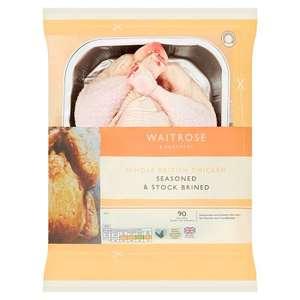 Waitrose Stock Brined Whole British Chicken 1.5kg - £3 @ Waitrose & Partners