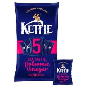 Kettle Sea Salt & Balsamic Vinegar 5X30g (Clubcard Price) £1.00 @ Tesco