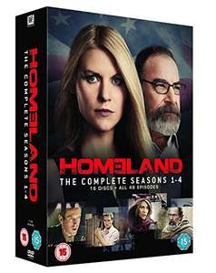 Homeland - Season 1-4 dvd (used) £4.94 delivered with code @ World of Books