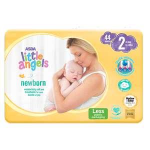 Asda Little Angels size 1 & 2 Nappies - 45p (Nottingham)