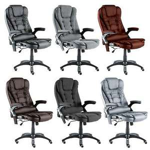 Neo Executive Gaming Computer Desk Office Swivel Recliner Massage Chair £76.49 using code @ eBay / neodirect