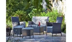 Argos Home 6 Seater Rattan Effect Sofa Set - Dark Grey - £200 - selected stores (Free Click & Collect ) @ Argos