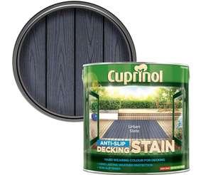 Cuprinol UTDSUS25L Anti Slip Decking Stain Urban Slate 2.5 Litre £8 prime + £4.49 non prime @ Amazon