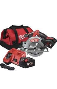 Milwaukee m18ccs55-502b 18v 165mm circular saw, blade, x2 5.0ah batteries, rapid fast charger and bag bundle £95.99 @ SGS Engineering UK