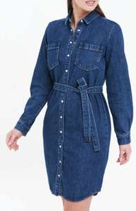 Denim Belted Mini Dress £6 @ Matalan Free Click & Collect
