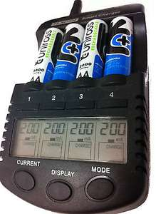 UNiROSS ULTIMATE INTELLIGENT SMART Charger + 4 x Uiniross AA 2700 Batteries £22.09 @ qualitydiscounts eBay