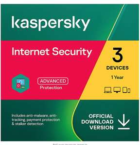 Kaspersky Internet Security 2021 | 3 Devices | 1 Year | Antivirus and Secure VPN Included | Online Code £16.99 Amazon Media EU S.à r.l..