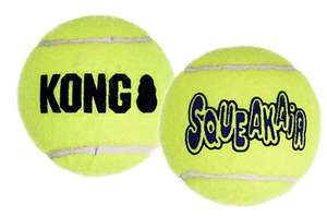Squeakair Balls - Dog Toy Premium Squeak Tennis Balls, Gentle on Teeth (3 Pack) - For X-Small Dogs - £2.45 (+£4.49NP) - Sold by iServe / FBA
