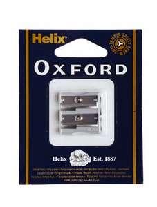 Helix Oxford Double Hole Metal Pencil Sharpener £1.00 Prime + £2.29 NP @ Amazon
