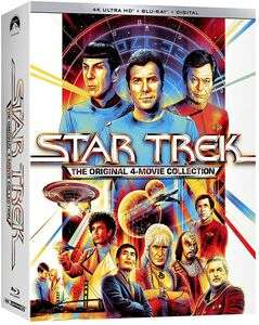 Star Trek: The Original 4 Movie Collection [4K UHD + Blu-ray] - £64.27 @ Wow HD