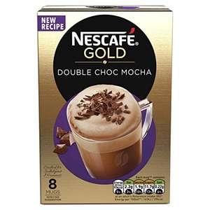 Nescafe Gold Double Choc Mocha Instant Coffee, 8 x 23g 84p Prime (+£2.99 non Prime) at Amazon