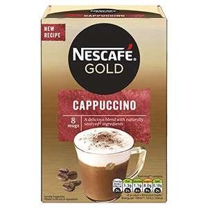 Nescafe Gold Cappuccino Instant Coffee, 8 x 15.5g at Amazon £1.30 Prime (+£2.99 non Prime)