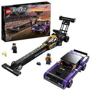 LEGO Speed Champions 76904 Mopar Dodge//SRT Top Fuel Dragster & 1970 Dodge Challenger T/A Muscle Car at Hamleys £36