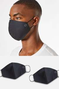 2 Pack Black Reusable Face Coverings £1.80 (+ free next day delivery) @ Burton
