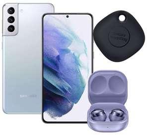 Samsung Galaxy S21+ 5G Smartphone SIM Free Android Mobile Phone Phantom Silver 256GB + Claim Buds Pro Headphones + SmartTag - £758 @ Amazon