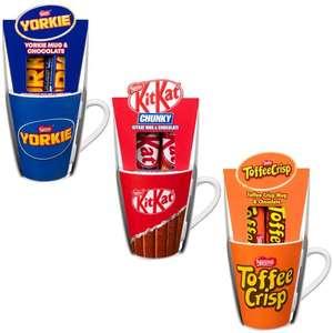 Nèstle KitKat Chunky/Yorkie/Toffee Crisp Mug with 2 Chocolate Bars are £1 @ B&M Bolton