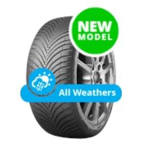 Kumho Solus 4S HA32 155/65 R14 T (75) All Season Car Tyres - fits Citroen C1 / Toyota Aygo / Pug 107 - £44.48 fully fitted @ Black Circles