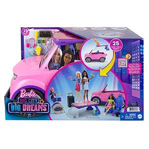 Barbie: Big City, Big Dreams Transforming Vehicle Playset, Pink 2-Seater SUV Reveals Stage, Drum Set & Concert-Themed Acc £45.49 @ Amazon