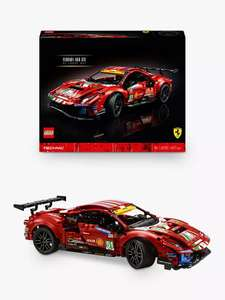 """LEGO Technic 42125 Ferrari 488 GTE """"AF Corse #51"""" - £107.94 with code @ John Lewis & Partners (My John Lewis Members only)"""