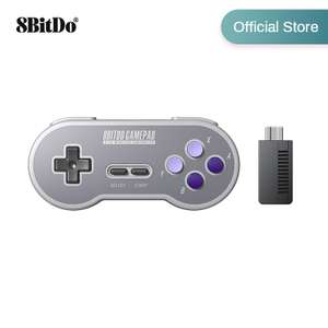 8BitDo SF30 SN30 Gamepad Wireless Game Controller with 2.4G NES Receiver, £18.58 delivered at AliExpress / 8Bitdo Official Store