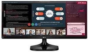 LG 25UM58 25 inch Ultrawide FHD IPS Monitor (2560x1080, HDMI, 250 cd/m2, 5ms) - £129.99 @ Amazon