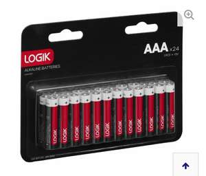 LOGIK LAAA2417 AAA Batteries - Pack of 24 £1.49 with code + free delivery @ Currys