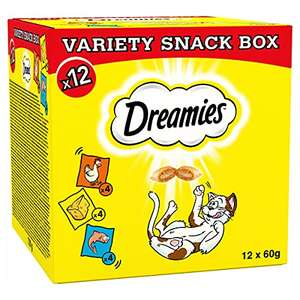 Dreamies Cat Treat for Cats Variety Pack 12x 60g - £9.53 Prime + £4.49 NonPrime @ Amazon