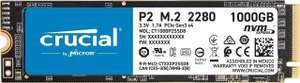 Crucial P2 1TB M.2 NVMe PCIe SSD/Solid State Drive, £69.98 delivered at Scan
