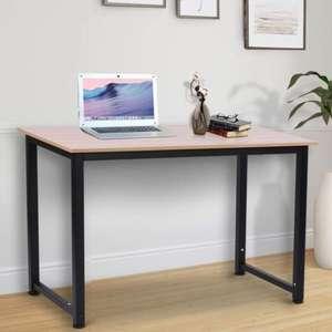 Black Metal Frame MDF Oak Grain Tone Desk - £27.71 delivered (UK Mainland) using discount code @ Aosom