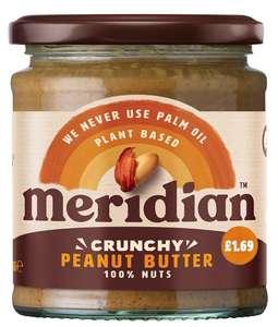 Meridian smooth/crunchy peanut butter 170g short dated 89p @ Spar Elmers End
